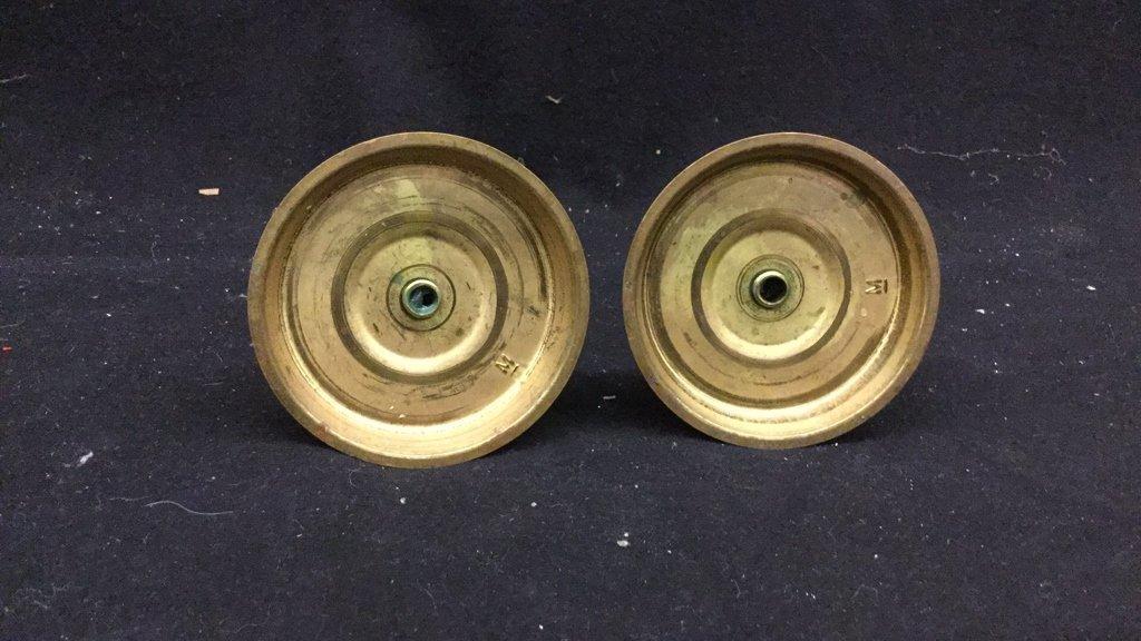 Brass Candelabra and Candlesticks - 7