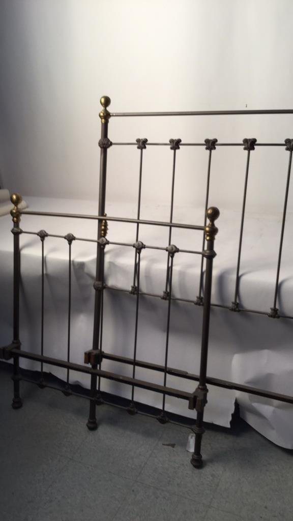 Vintage Railed Twin Bed Frame