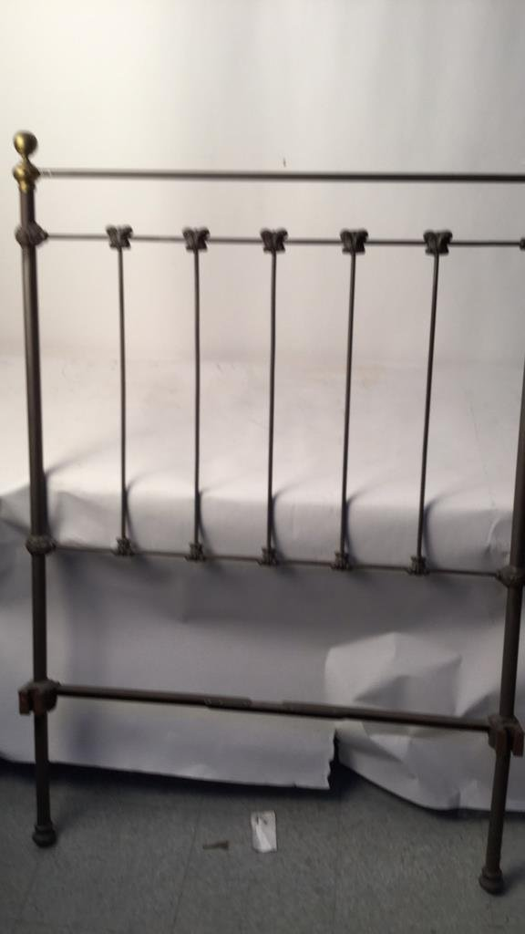 Vintage Railed Twin Bed Frame - 2