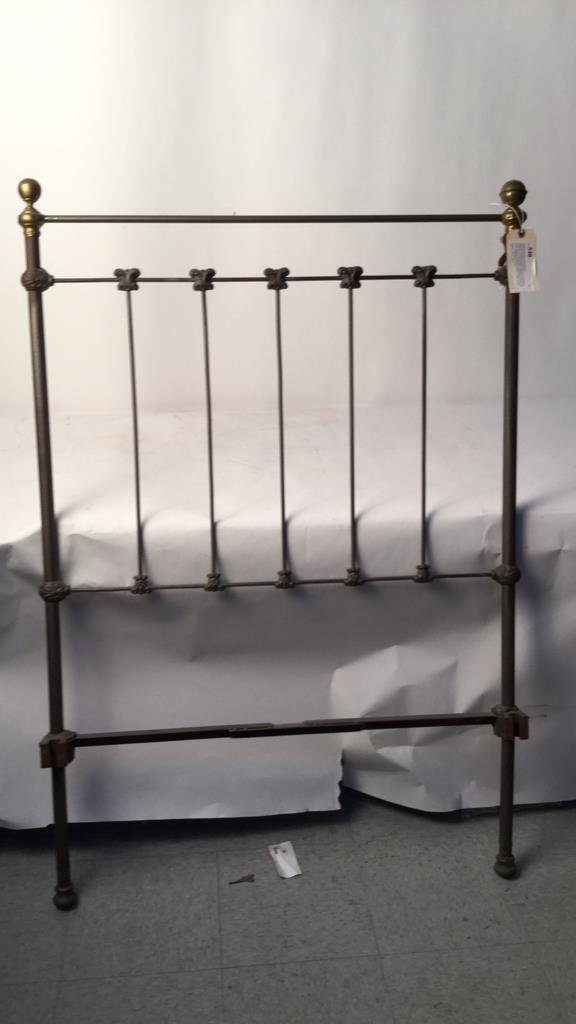 Vintage Railed Twin Bed Frame - 3