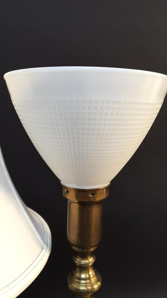 Group Lot Brass Table Lamps - 3