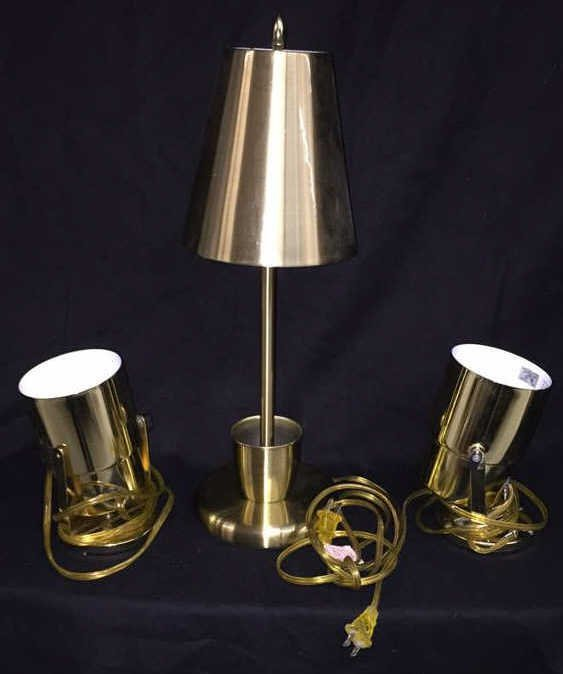 Group Lot Brass Lighting 3 Pieces