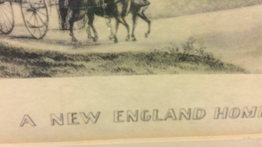 Currier & Ives A New England Home Framed Print - 9
