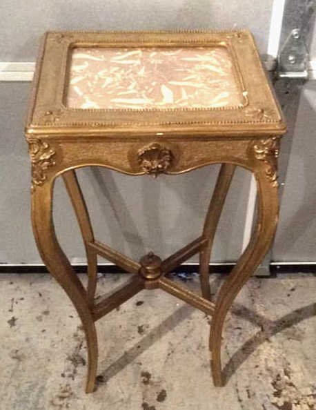 Decorative Gold Painted Wooden Corner Table