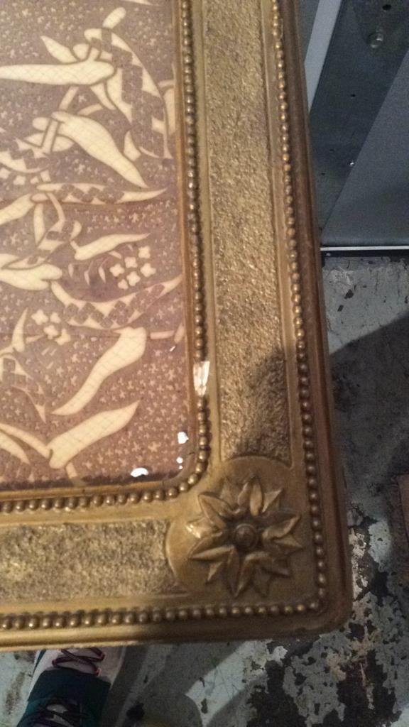 Decorative Gold Painted Wooden Corner Table - 4
