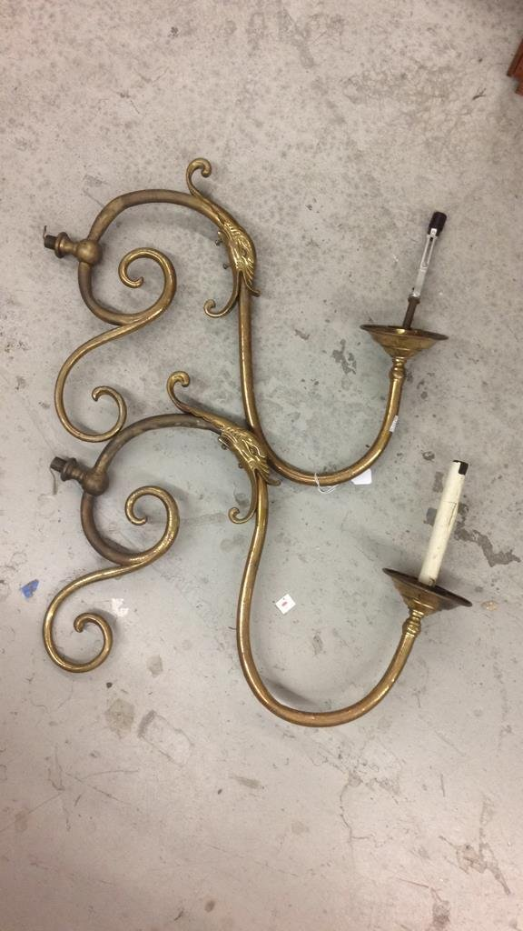 Disassembled Brass Swan Chandelier - 3