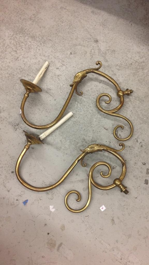 Disassembled Brass Swan Chandelier - 4
