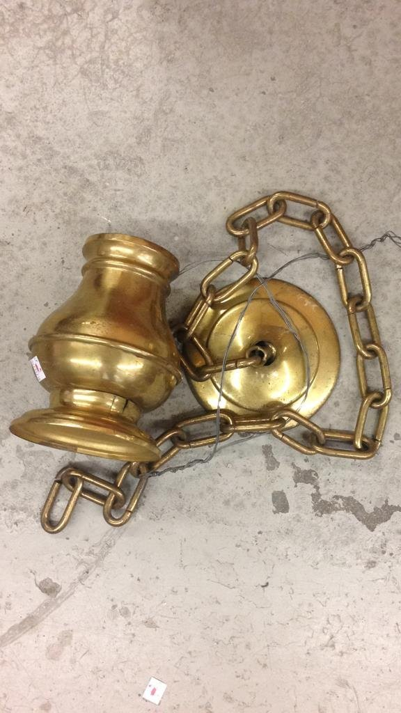 Disassembled Brass Swan Chandelier - 5