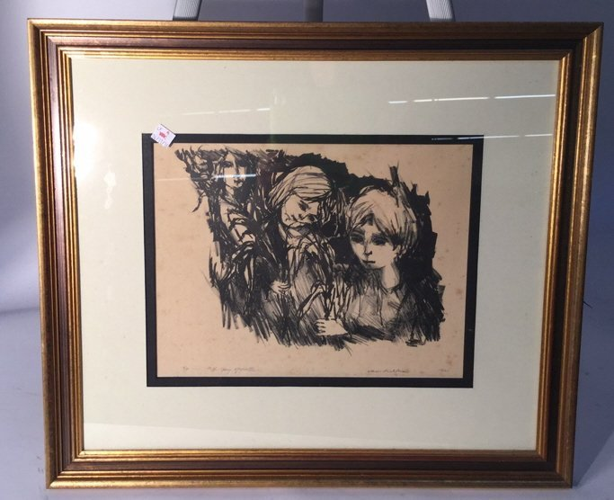 Signed Numbered Dated Gold Frame Art