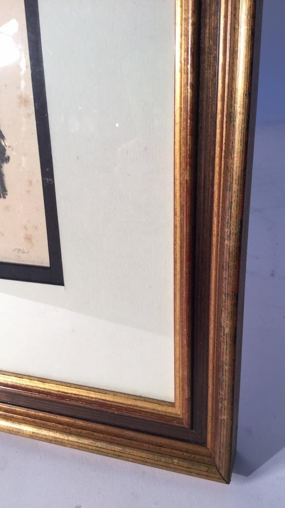 Signed Numbered Dated Gold Frame Art - 2
