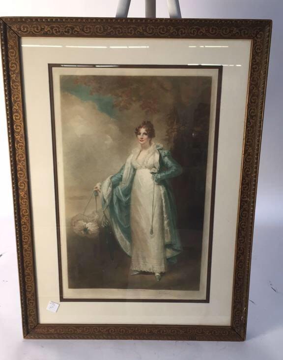 Victorian Portrait Print Bronze Frame