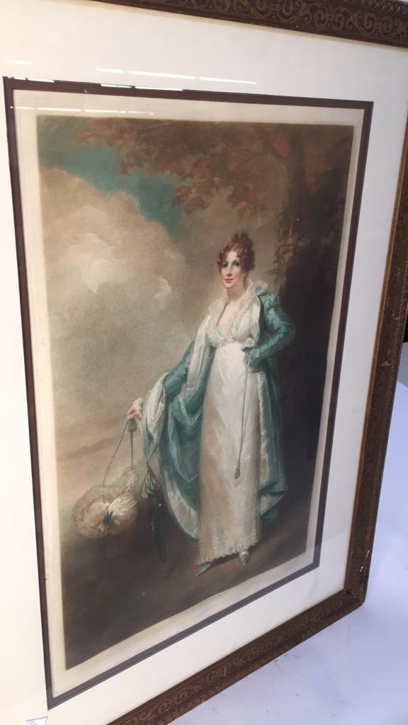 Victorian Portrait Print Bronze Frame - 2
