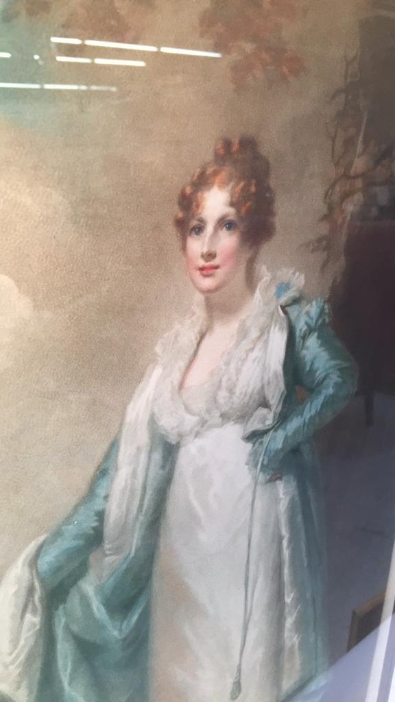 Victorian Portrait Print Bronze Frame - 3