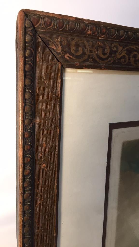 Victorian Portrait Print Bronze Frame - 4