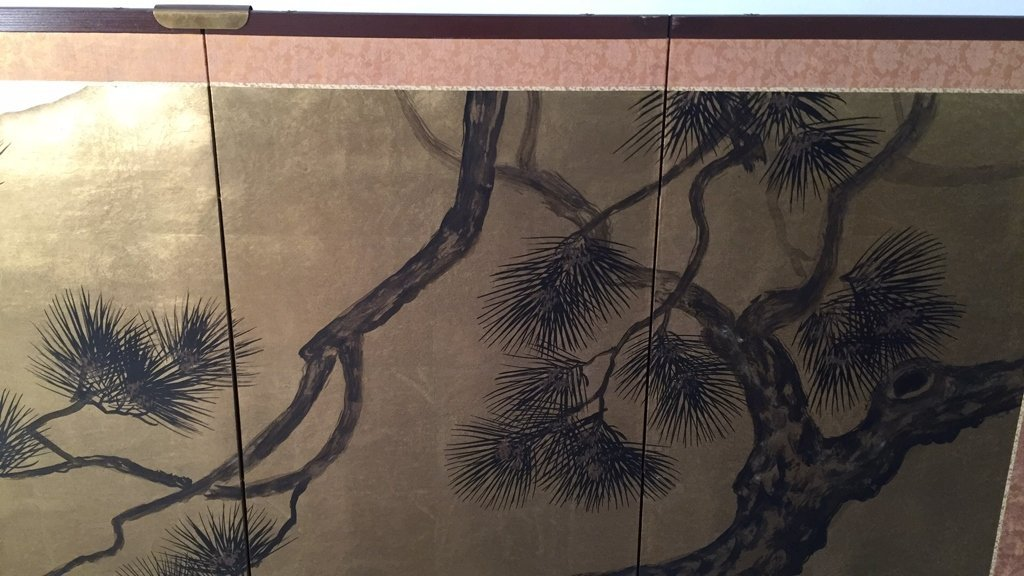 Vintage Asian Four Panel Screen Art - 3