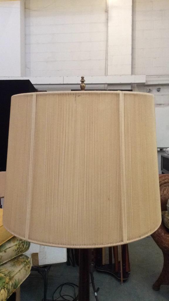 Vintage Mahogany Wood Table Lamp - 5