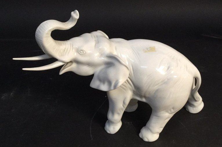 Czechoslovakia Hand Painted Elephant