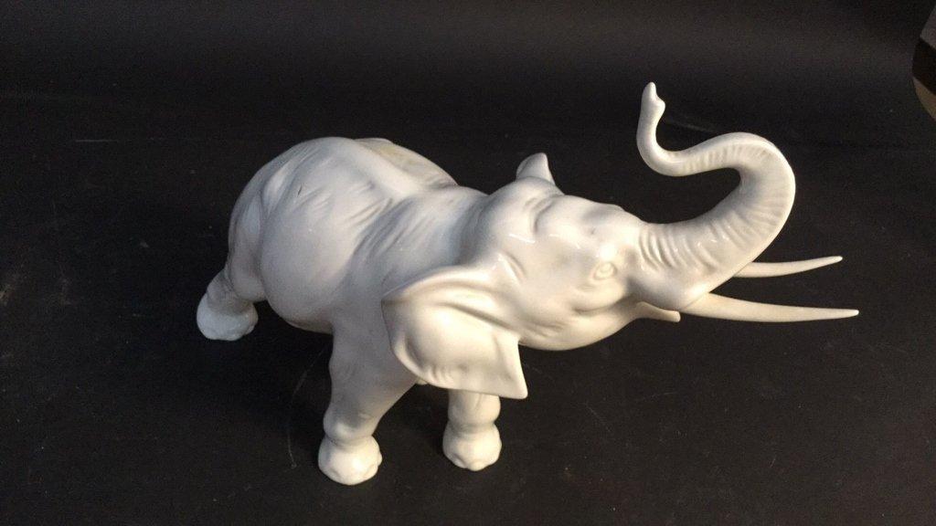Czechoslovakia Hand Painted Elephant - 3