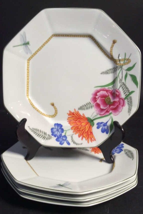 LYNN CHASE FLORES Set Of 4 Plates