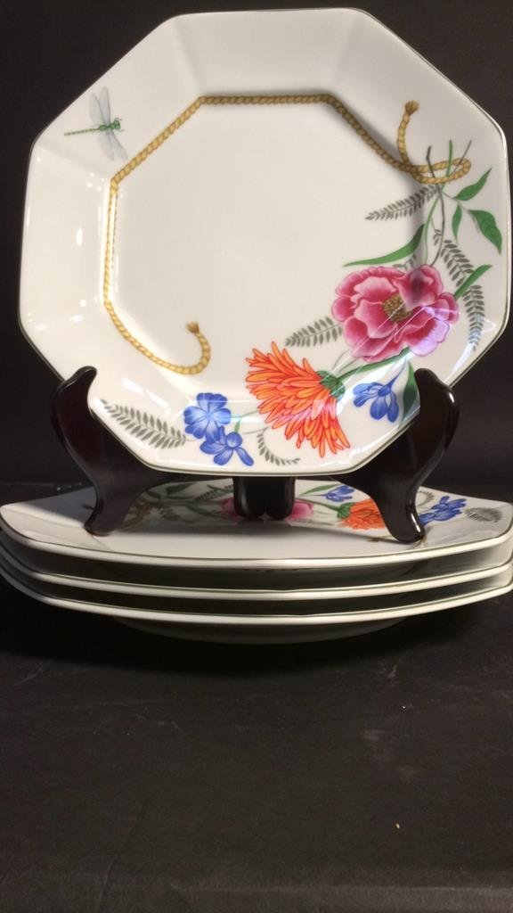 LYNN CHASE FLORES Set Of 4 Plates - 5