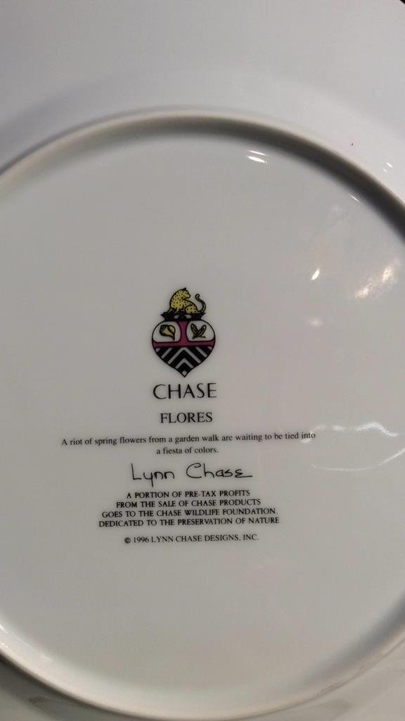LYNN CHASE FLORES Set Of 4 Plates - 6