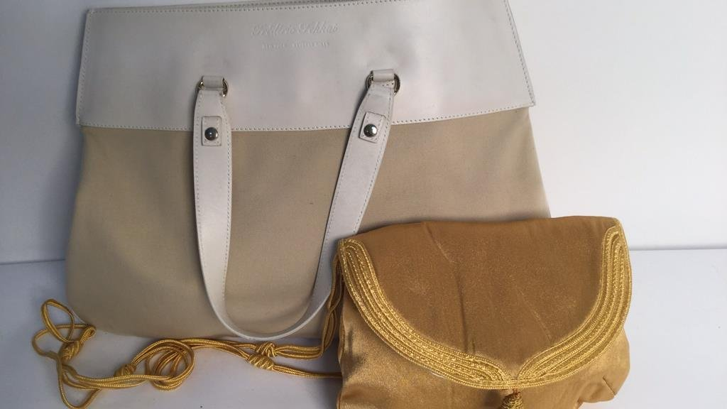 Frederic Fekkai Linen Leather Purse and Silk Purse
