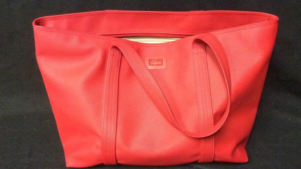 Red Lacoste Duffle Bag