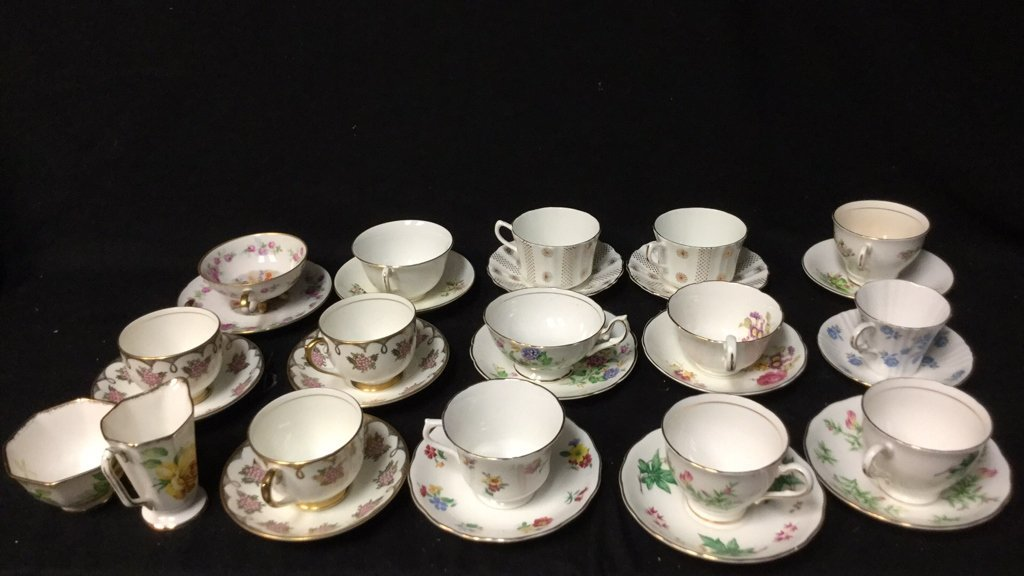 15+ Marked Tea Cup Group Lot - 3