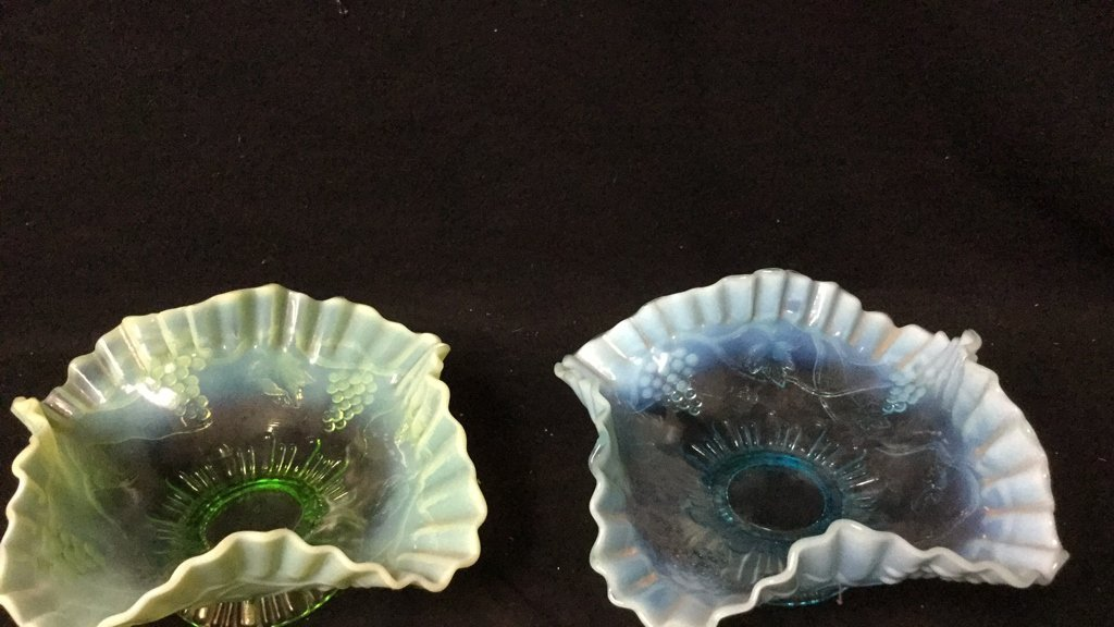 Three Piece Group Lot Of Colored Glass - 4