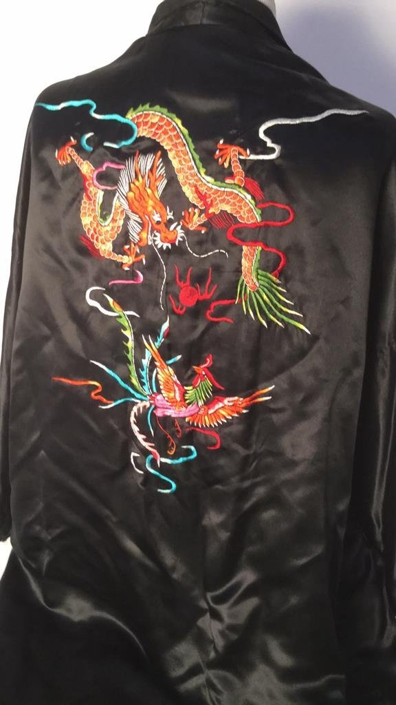 Embroidered Plum Blossom Silk Robe - 3