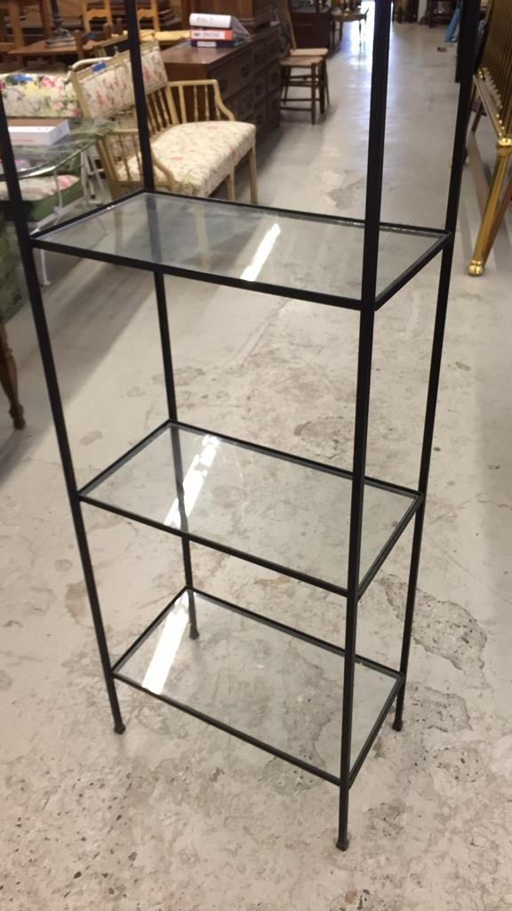 Wrought Iron and Glass Shelving - 2
