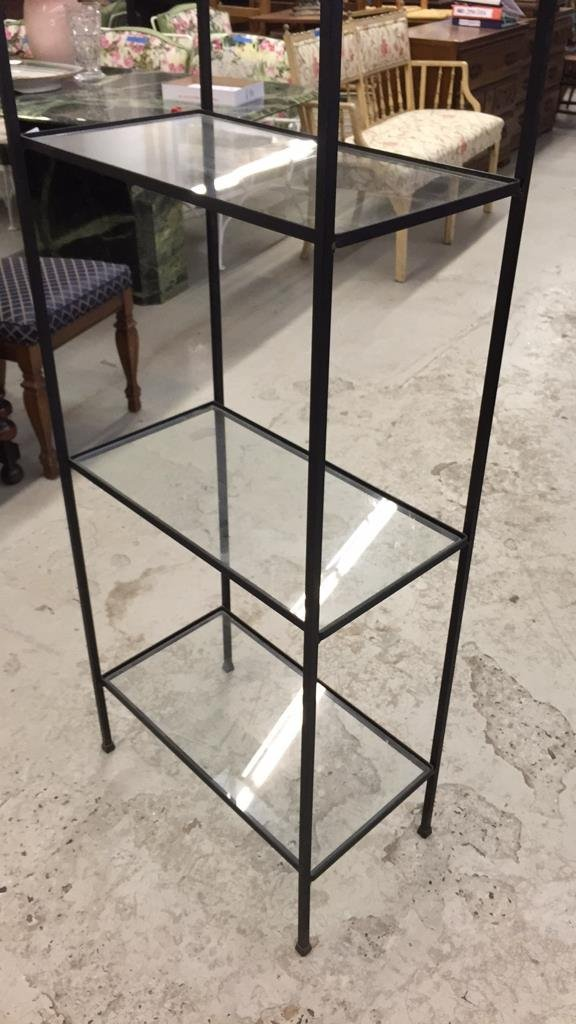Wrought Iron and Glass Shelving - 5