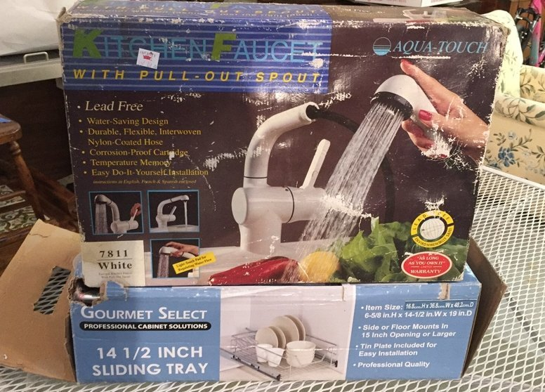 Unopened Sliding Tray & AQUA TOUCH Faucet