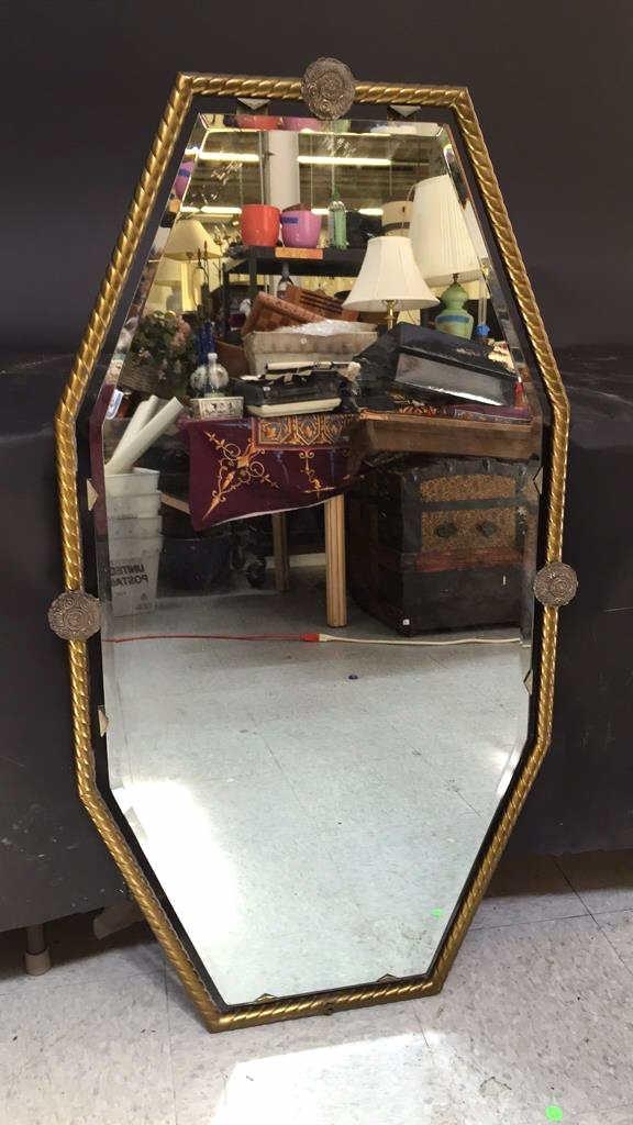 Bronze Framed Wall Mirror