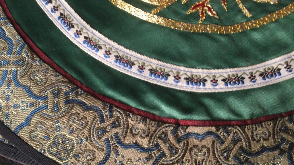 6 Silk Dragon Embroidered Mats - 3