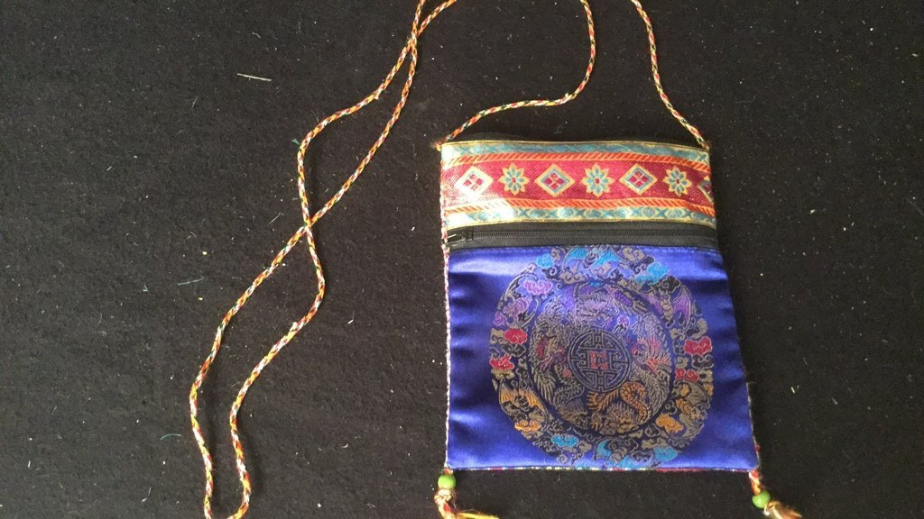 Pair of Silk Embroidered Decorative Bags - 2