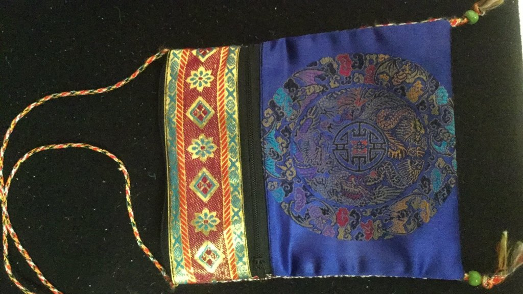 Pair of Silk Embroidered Decorative Bags - 3