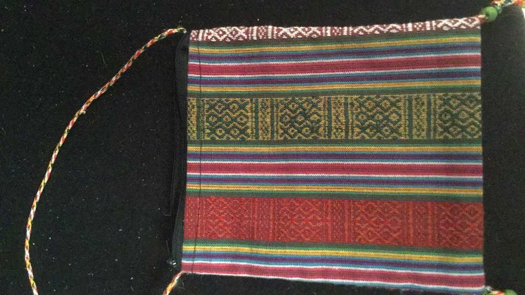 Pair of Silk Embroidered Decorative Bags - 5