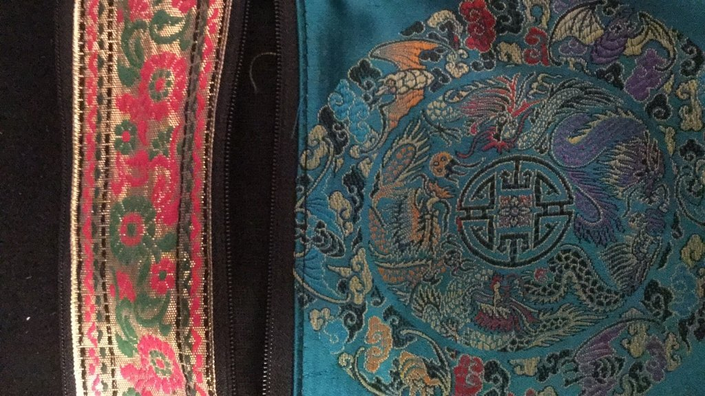 Pair of Silk Embroidered Decorative Bags - 8
