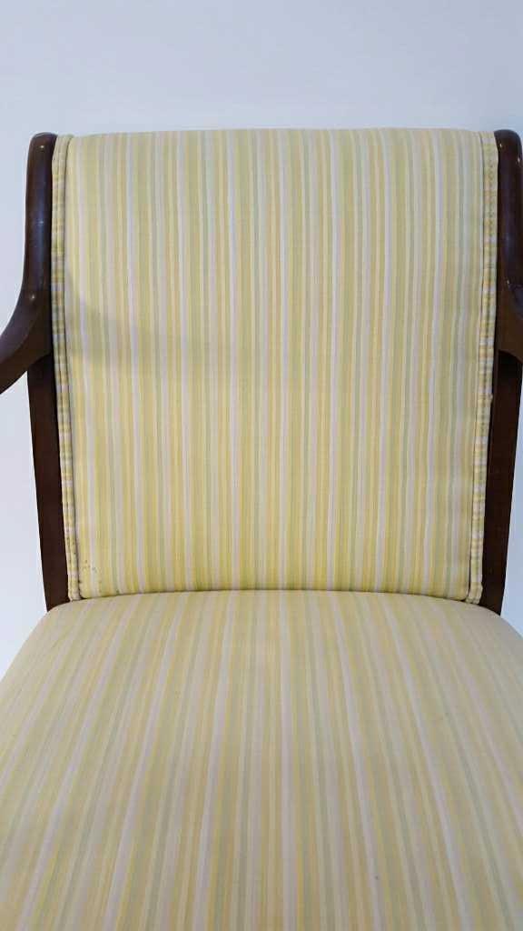 Vintage Stripped Lemon Lime 1950's Chair - 3