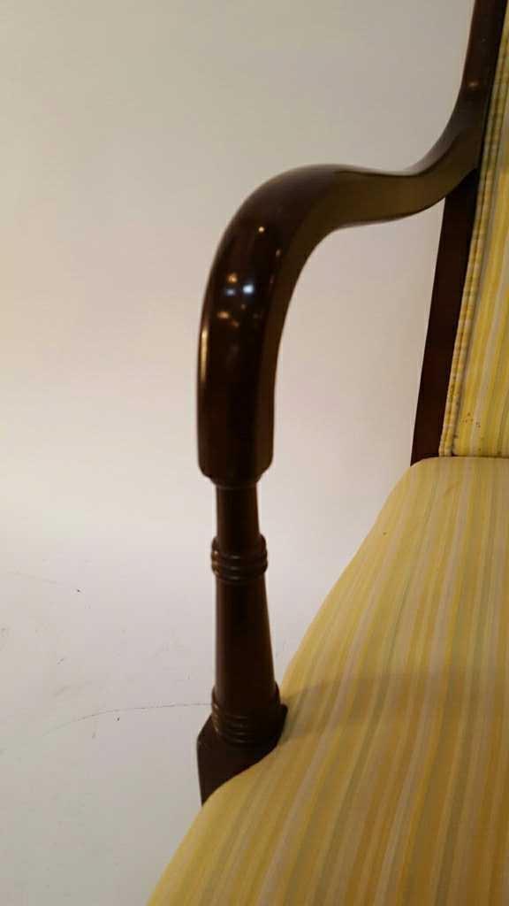 Vintage Stripped Lemon Lime 1950's Chair - 4