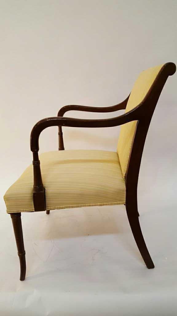 Vintage Stripped Lemon Lime 1950's Chair - 6