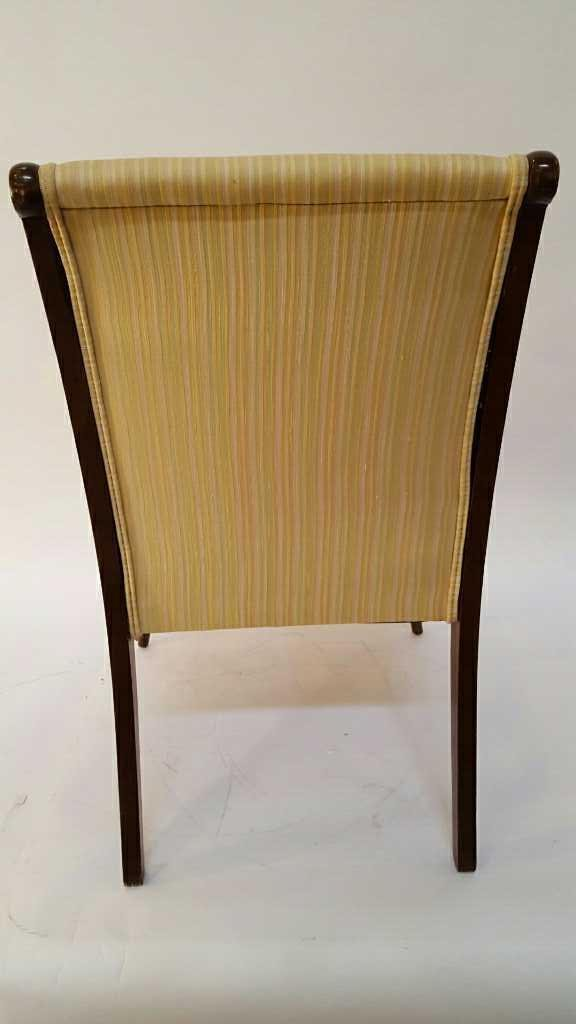 Vintage Stripped Lemon Lime 1950's Chair - 7