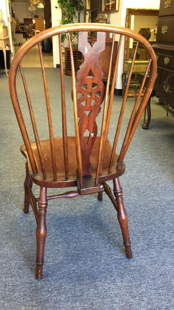 English Country Windsor Chair with Brace - 3