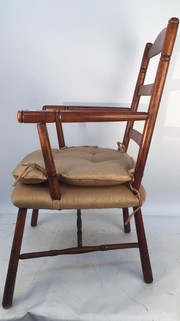 Vintage Turned Ladder Back Arm Chair - 3