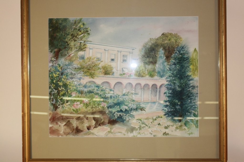 2 Vintage French Watercolors by Giraud - 2