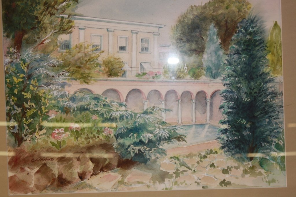 2 Vintage French Watercolors by Giraud - 3