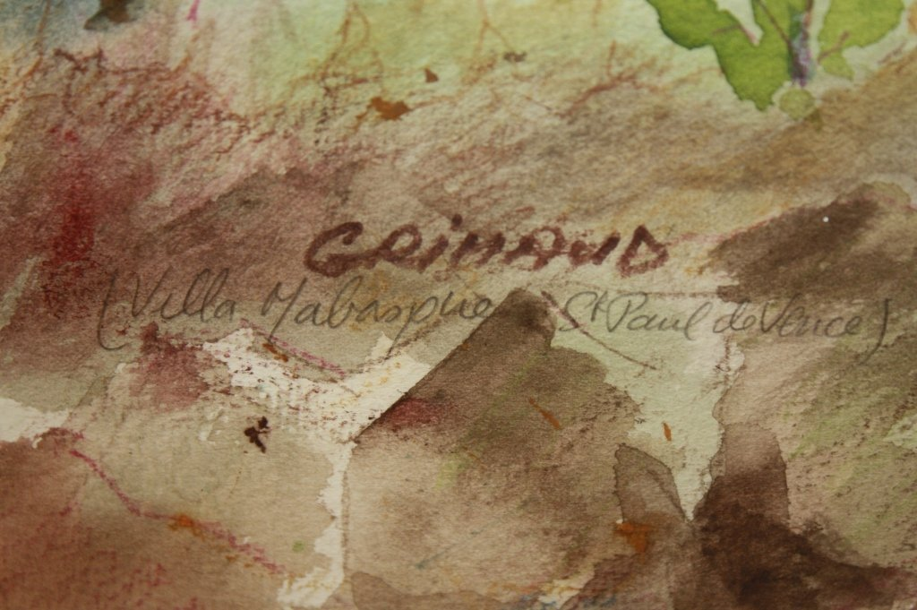 2 Vintage French Watercolors by Giraud - 4