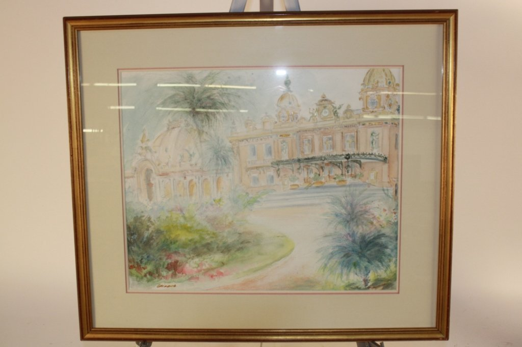 2 Vintage French Watercolors by Giraud - 6