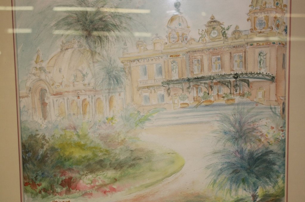 2 Vintage French Watercolors by Giraud - 7